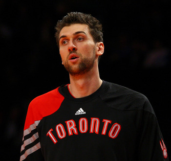 Andrea Bargnani, current Captain of the Toronto Raptors