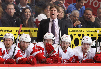 The presence of Mike Babcock behind the bench enhances the professionalism of the Red Wing organization.
