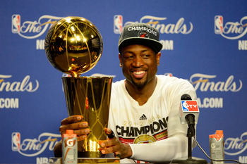Dwyane Wade certainly wants to touch the Larry O'Brien trophy more than twice in his career.