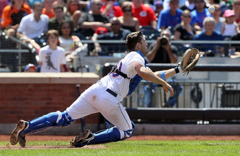 Josh Thole has worked well with the pitching staff