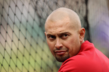 SAN FRANCISCO, CA - APRIL 16:  Shane Victorino #8 of the Philadelphia Phillies warms up before their game against the San Francisco Giants at AT&amp;T Park on April 16, 2012 in San Francisco, California.  (Photo by Ezra Shaw/Getty Images)