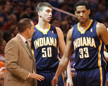 Frank Vogel, Tyler Hansbrough and Danny Granger