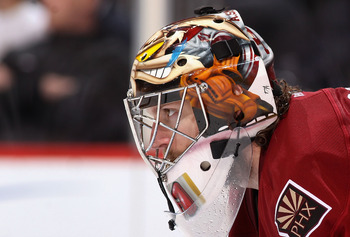 Mike Smith, grinding the high of a phenomenal season with the Yotes