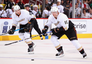 The best of the Ducks' wingers, Bobby Ryan (left) & Corey Perry (right)