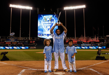 So far Prince Fielder is the only player to be taking home some hardware. Fielder hopes his Tigers will bring him home some more come season's end
