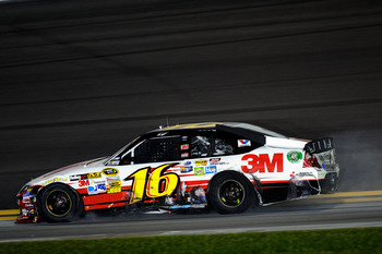 Greg Biffle wound up with a wrecked race car at Daytona