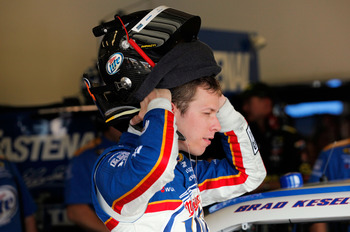 Brad Keselowski recovered from two wrecks to finish eighth