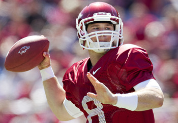Tyler Wilson is back for 2012 in Arkansas, but can he lead the Razorbacks to a victory over LSU or Alabama?
