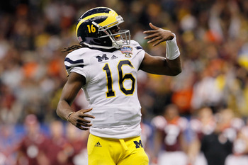 Michigan QB Denard Robinson may be too much for the Tide to handle.