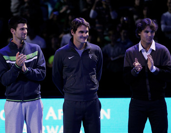 Djokovic, Federer, Nadal (2011 World Tour Finals)