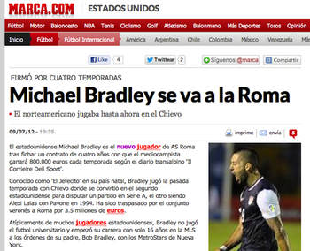 Screengrab from Marca by Dirty Tackle