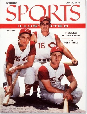 Big Klu, Wally Post, and Gus Bell, all pictured here on the cover of a 1956 SI Magazine, were three of the seven Reds players elected to start the 1957 ASG.