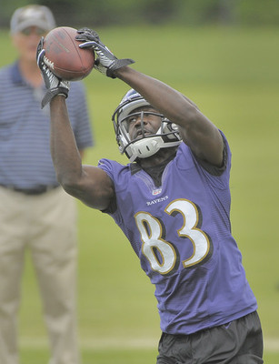 Deonte Thompson actually has more than just a slight chance to make the Ravens' active roster this year (Photo: Karl Merton Ferron, Baltimore Sun).