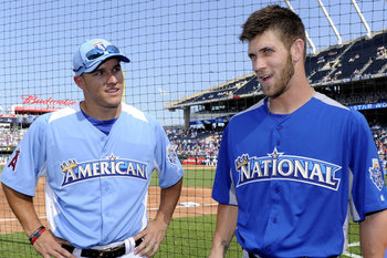 Mike Trout (left) and Bryce Harper (right) stand as two great things about this year's MLB All-Star game. There are many more things, however, that could be better.