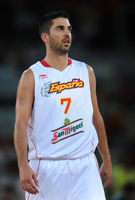 Juan Carlos Navarro serves as Spain's Team Captain