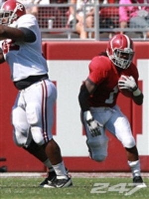 Hart could be one of the Tide's most explosive players in space this season.  Pic courtesy, 247 Sports.
