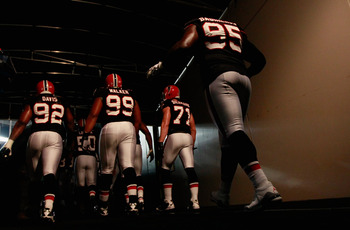 Who will be running out of the tunnel for the Falcons in 2012?