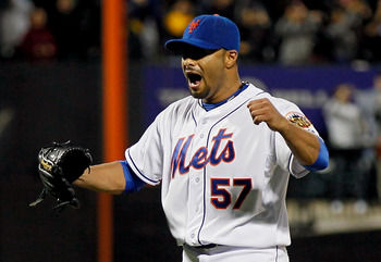 Johan Santana pitched the Mets' first  no-hitter