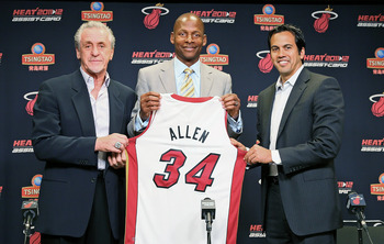 Allen is the NBA's all-time leading three point shooter with a new lease on his basketball life.