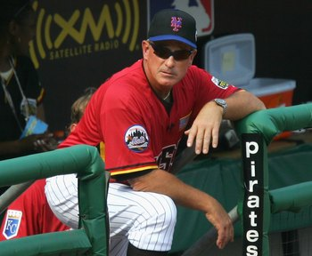 PITTSBURGH - JULY 09:  Manager Gary Carter of the U.S.A. Team looks on during the XM Satellite Radio All-Star Futures Game at PNC Park on July 9, 2006 in Pittsburgh, Pennsylvania.  (Photo by Jim McIsaac/Getty Images)