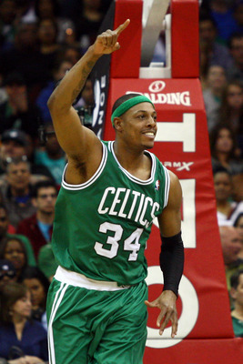 Paul Pierce has always looked good in green.
