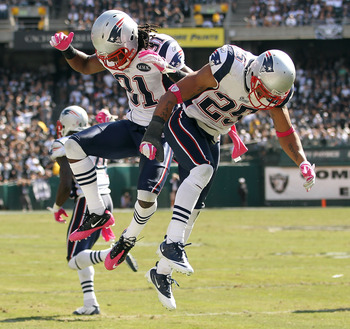 Sergio Brown and Patrick Chung finding room for celebration.