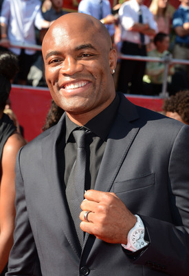 LOS ANGELES, CA - JULY 11:  UFC fighter Anderson Silva arrives at the 2012 ESPY Awards at Nokia Theatre L.A. Live on July 11, 2012 in Los Angeles, California.  (Photo by Frazer Harrison/Getty Images)
