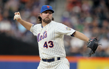 R.A. Dickey is headed for perhaps the greatest statistical performance of any knuckleballer in baseball history.