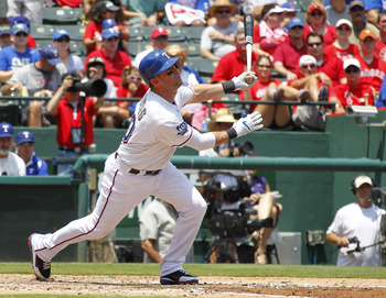 Reliable Ranger Michael Young has done a lot of rubbernecking to watch fly balls off his bat this year.