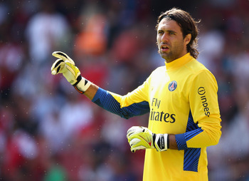 Salvatore Sirigu was a commanding presence in goal during his first season with PSG.