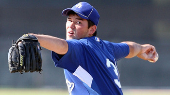 Zach Lee can rock the blue jersey. Photo courtesy of mlb.com.