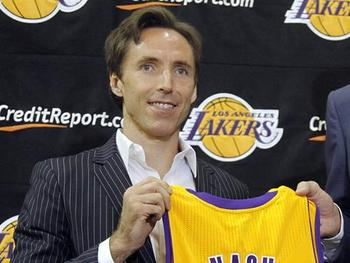 Steve Nash will take some off the offensive pressure off of Kobe.