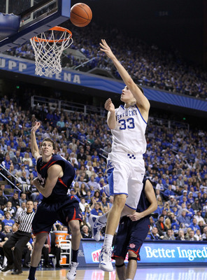 Action pose of Kyle Wiltjer against Samford last season. UK won, 82-50.