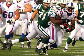 Stevie Johnson makes another catch against Darrelle Revis.