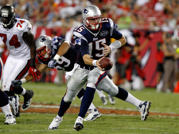 The Patriots and Buccaneers during the 2011 preseason.
