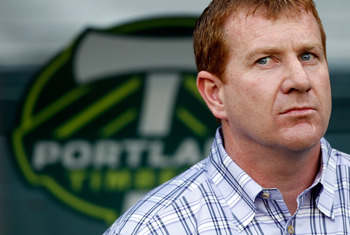 Gavin Wilkinson, the new interim manager of the Portland Timbers.