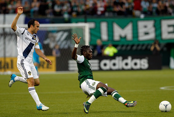 Landon Donovan scored a goal and an assist on Saturday against Portland.