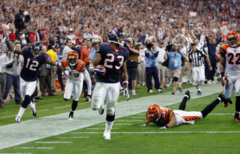 Arian Foster scores in the playoffs vs the Bengals