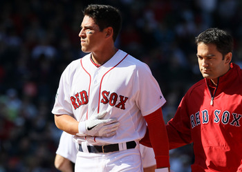 Jacoby Ellsbury's dislocated shoulder has hampered Boston's season.