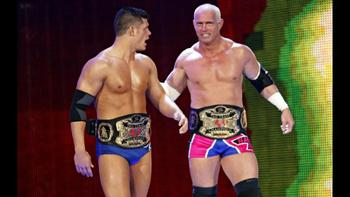Cody Rhodes and Hardcore Holly as World Tag Team Champions
