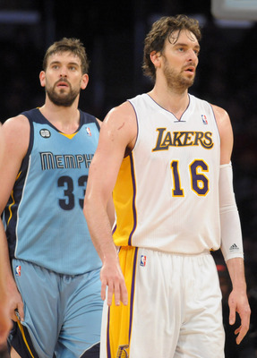 The Gasol brothers have the lane locked down for Spain.