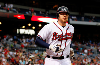 An eye injury disrupted Freddie Freeman's first half.