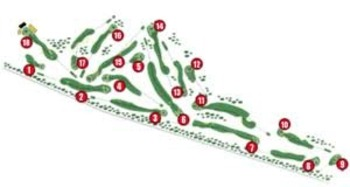 Course layout of Royal Lytham