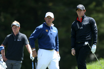 The world's top three players, Luke Donald, Lee Westwood and Rory McIlroy