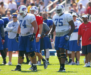 Last year, Colin Brown (74) and Chris Hairston (75) took advantage of their reps at camp.