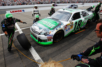 Kyle Busch was undone by a pair of pit road miscues