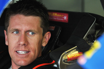 Carl Edwards didn't have much reason to smile at New Hampshire