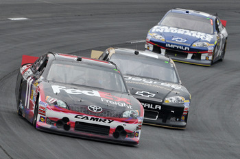 Denny Hamlin led the most laps at New Hampshire and finished second
