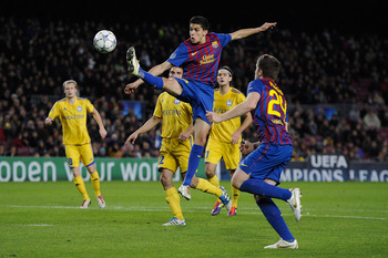 Marc Bartra flying high.