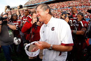 South Carolina head coach Steve Spurrier